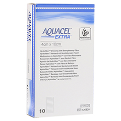 AQUACEL Extra 4x10 cm Verband 10 Stück