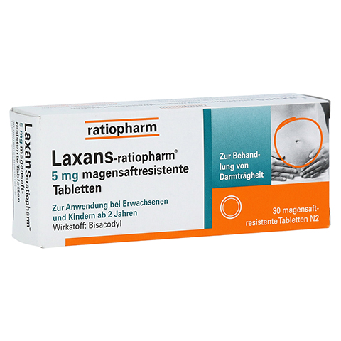 Laxans-ratiopharm 5mg 30 Stück N2