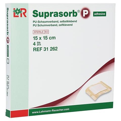SUPRASORB P PU-Schaumv.selbstklebend 15x15 cm 4 Stück