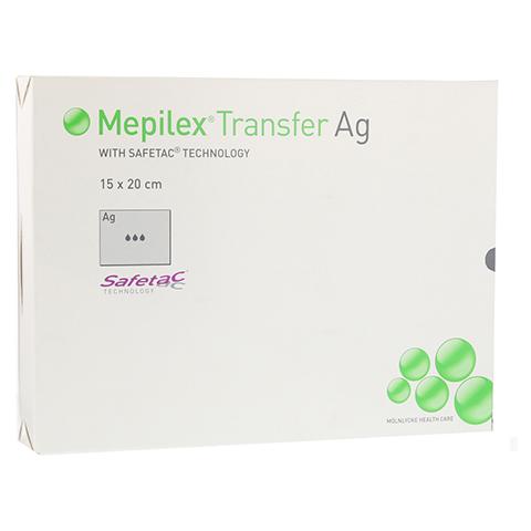 MEPILEX Transfer Ag Schaumverband 15x20 cm steril 10 Stück