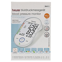 BEURER BM55 Oberarm Blutdruckmessgerät 1 Stück - Vorderseite
