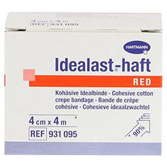 IDEALAST-haft color Binde 4 cmx4 m rot 1 Stück - Vorderseite