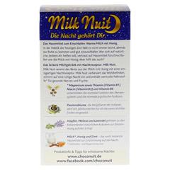 MILK Nuit gute Nacht Drink Typ Milch+Honig Pulver 8 Stück - Rückseite