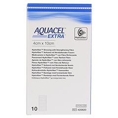 AQUACEL Extra 4x10 cm Verband 10 Stück - Vorderseite
