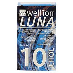 WELLION LUNA Cholesterinteststreifen 10 Stück - Vorderseite