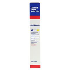 SORBION Cutimed Sachet Extra Wundaufl.10x10 cm 5 Stück - Linke Seite