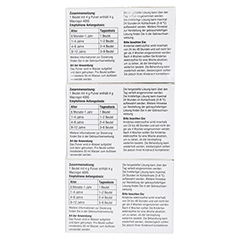 KINDERLAX elektrolytfrei Plv.z.Her.e.Lsg.z.Einn. 3x30 Stück - Linke Seite