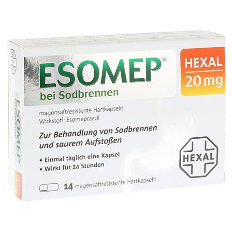 ESOMEP HEXAL bei Sodbrennen 20mg 14 Stück