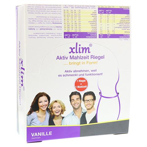 XLIM Aktiv Mahlzeit Riegel Vanille 12x75 Gramm