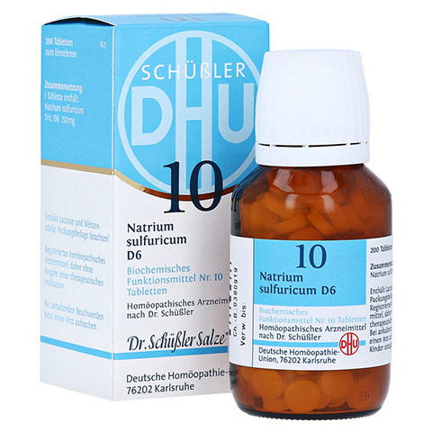 BIOCHEMIE DHU 10 Natrium sulfuricum D 6 Tabletten 200 Stück N2