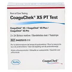 COAGUCHEK XS PT Test 2x24 Stück - Rückseite