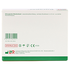CURAPOR Wundverband steril chirurgisch 5x7 cm 100 Stück - Rückseite