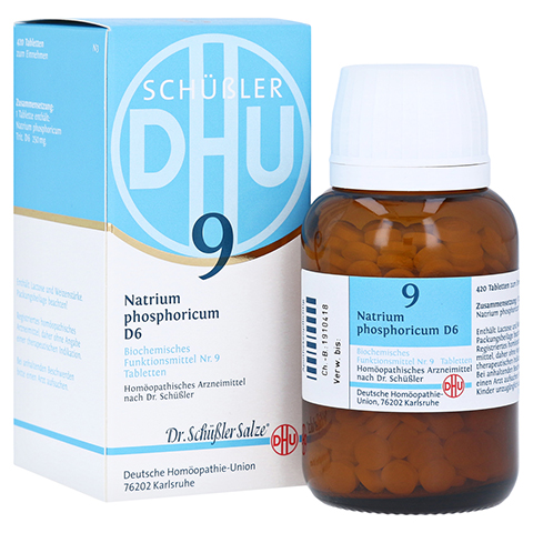 BIOCHEMIE DHU 9 Natrium phosphoricum D 6 Tabletten 420 Stück N3