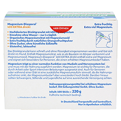 MAGNESIUM DIASPORAL 400 Extra direkt Granulat 100 Stück - Rückseite