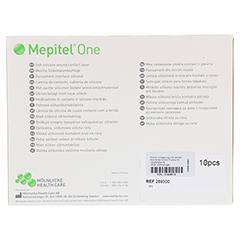MEPITEL One Silikon Netzverband 7,5x10 cm 10 Stück - Rückseite