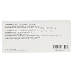 NERVUS ISCHIADICUS GL D 8 Ampullen 10x1 Milliliter N1 - Rückseite