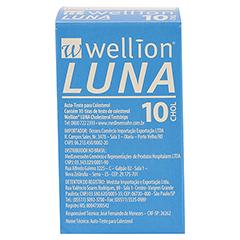 WELLION LUNA Cholesterinteststreifen 10 Stück - Rückseite