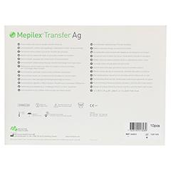 MEPILEX Transfer Ag Schaumverband 15x20 cm steril 10 Stück - Rückseite