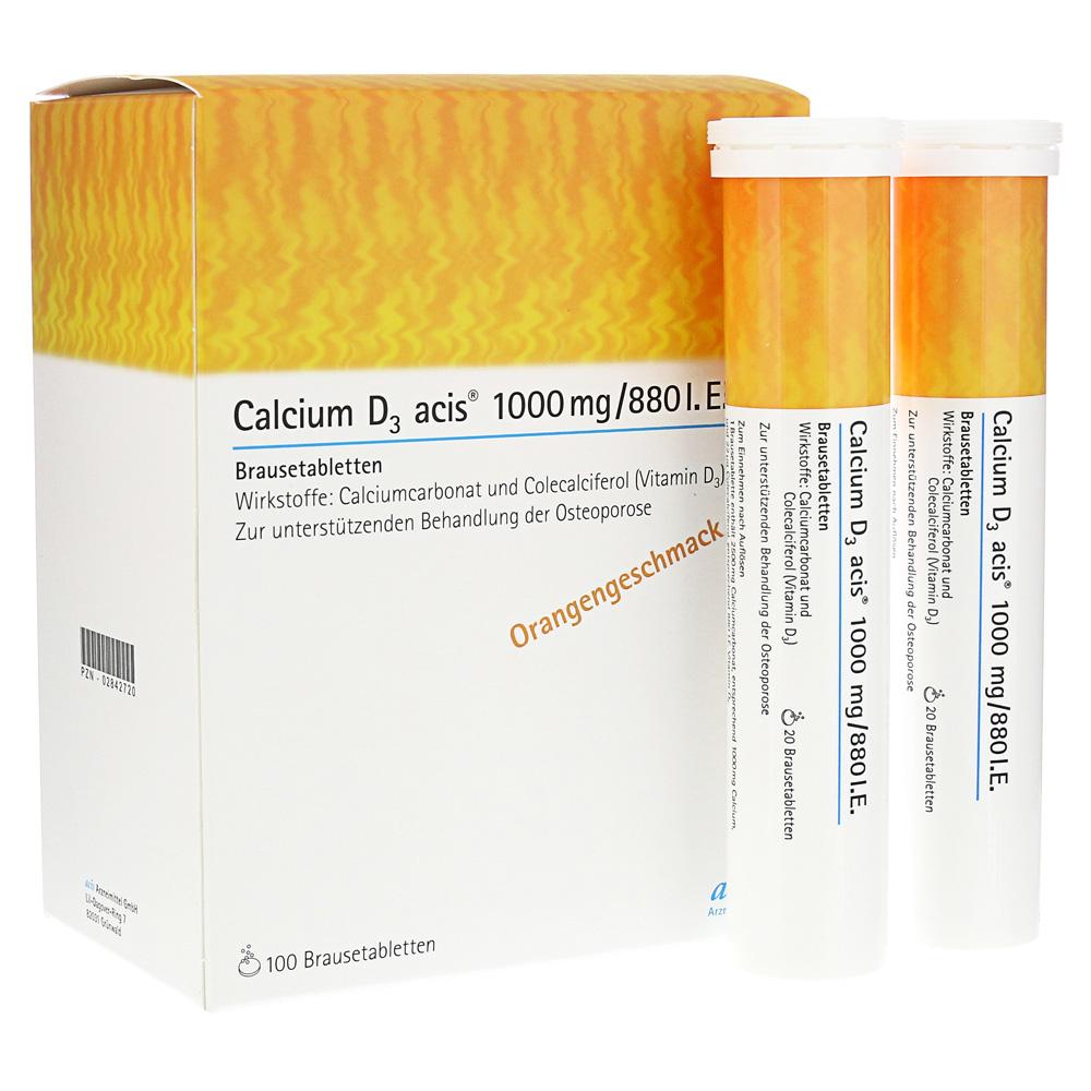 Calcium D3 acis 1000mg/880 I.E. Brausetabletten 100 Stück