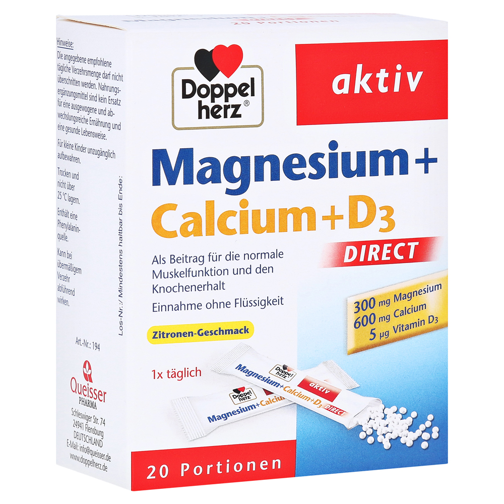 erfahrungen zu doppelherz magnesium calcium d3 direct pellets 20 st ck medpex versandapotheke. Black Bedroom Furniture Sets. Home Design Ideas