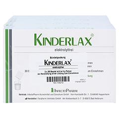 KINDERLAX elektrolytfrei Plv.z.Her.e.Lsg.z.Einn. 3x30 Stück - Oberseite