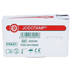 JODOTAMP 50 mg/g 5 cmx5 m Tamponaden 1 Stück - Unterseite