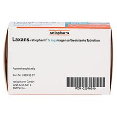 Laxans-ratiopharm 5mg 100 Stück N3 - Unterseite