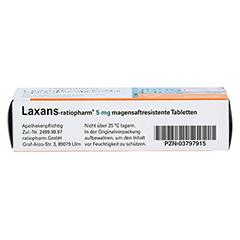 Laxans-ratiopharm 5mg 30 Stück N2 - Unterseite