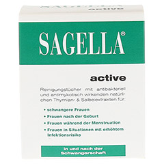 SAGELLA active Reinigungstücher 10 Stück - Vorderseite