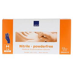 NITRIL Unt.Handschuhe unster.puderfrei Gr.M blau 100 Stück - Vorderseite