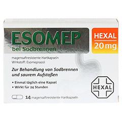 ESOMEP HEXAL bei Sodbrennen 20mg 14 Stück - Vorderseite