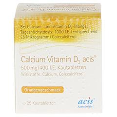 Calcium Vitamin D3 acis 500mg/400I.E. 20 Stück N1 - Vorderseite