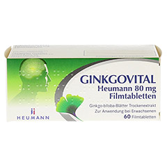 GINKGOVITAL Heumann 80mg 60 Stück N2 - Vorderseite