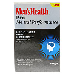 MEN'S HEALTH Pro Mental Performance Kapseln 40 Stück - Vorderseite