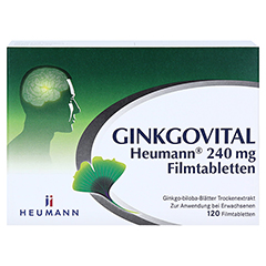 GINKGOVITAL Heumann 240mg 120 Stück N3 - Vorderseite