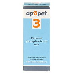APOPET Schüßler-Salz Nr.3 Ferrum phos.D 12 vet. 12 Gramm - Vorderseite