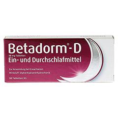 Betadorm-D 10 Stück N1 - Vorderseite