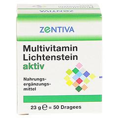 MULTIVITAMIN LICHTENSTEIN aktiv Dragees 50 Stück - Vorderseite