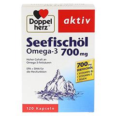 DOPPELHERZ Seefischöl Omega-3 700 mg Kapseln 120 Stück - Vorderseite