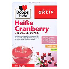 Doppelherz aktiv Heiße Cranberry mit Vitamin C + Zink 10 Stück - Vorderseite