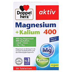 DOPPELHERZ Magnesium+Kalium Tabletten 30 Stück - Vorderseite