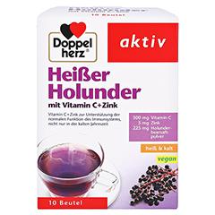 Doppelherz aktiv Heißer Holunder mit Vitamin C + Zink 10 Stück - Vorderseite