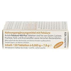 FOLSÄURE 400 Plus B12+Jod Tabletten 120 Stück - Linke Seite