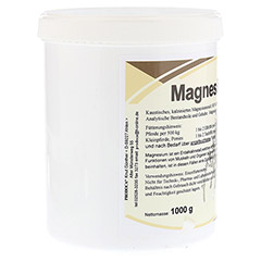 MAGNESIUMOXID Pulver vet. 1000 Gramm - Linke Seite