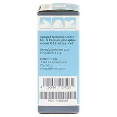 APOPET Schüßler-Salz Nr.3 Ferrum phos.D 12 vet. 12 Gramm - Linke Seite