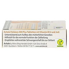FOLSÄURE 400 Plus B12+Jod Tabletten 120 Stück - Rechte Seite