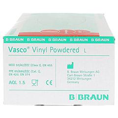 VASCO Vinyl powdered Handschuhe unsteril Gr.L 100 Stück - Rechte Seite