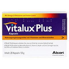 VITALUX Plus Lutein u.Omega-3 Kapseln 28 Stück - Vorderseite