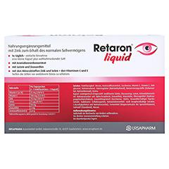 RETARON liquid Trinkampullen 45x25 Milliliter - Rückseite