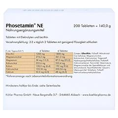PHOSETAMIN NE Tabletten 200 Stück - Rückseite